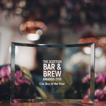 Grape & Grain named Scotland's Gin Bar of the Year