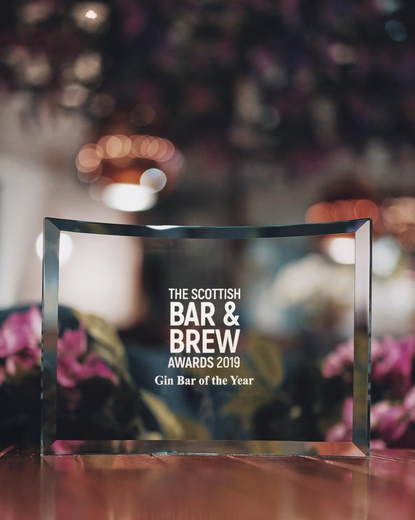Grape & Grain named Scotland's Gin Bar of the Year